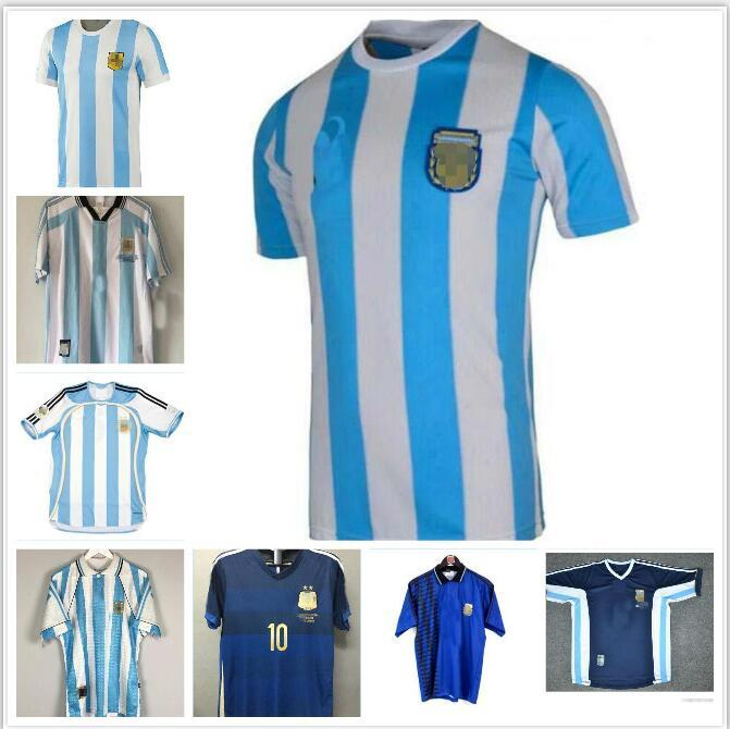 Argentina1996 1998 de football maillot coupe du monde 96 98 millésime Argentine Ortega PINEDA Batistuta SIMEONE VERON BERTI chemise de football rétro classique