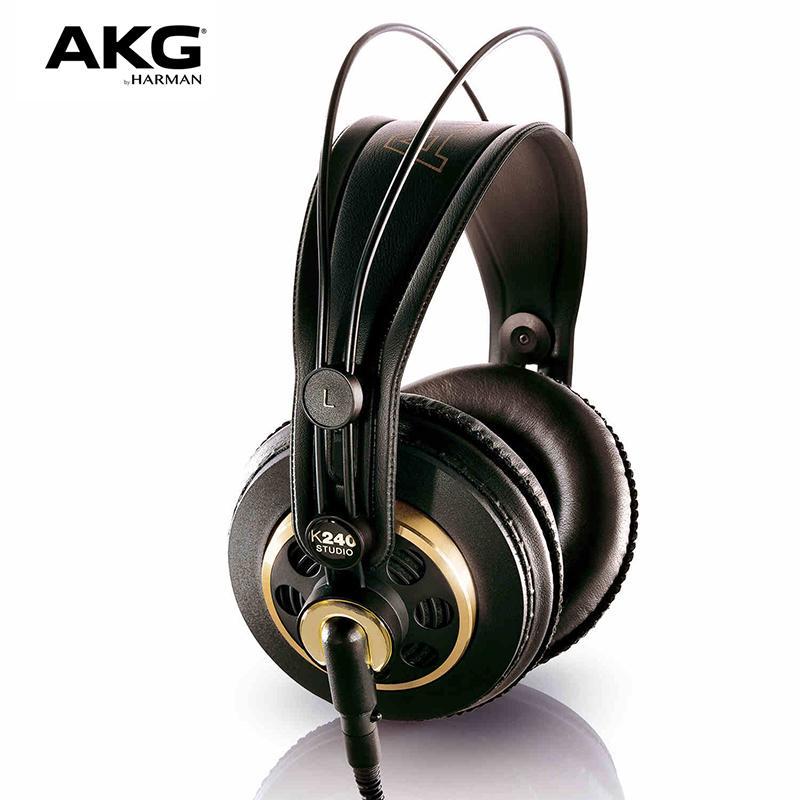 الأصل AKG K240S ستوديو السلكية الموسيقى سماعة DJ مراقب حمى العلمية ايفي مسجل مضخم صوت سماعات