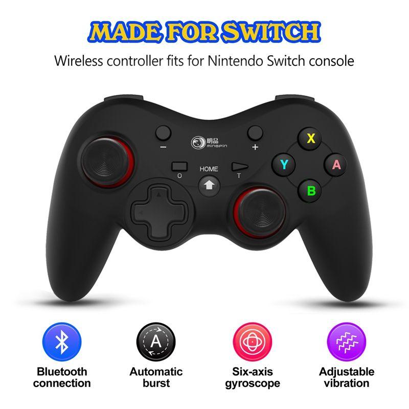 Беспроводной контроллер Bluetooth Gamepad Джойстик Джойстик для переключателя PS3 / Android