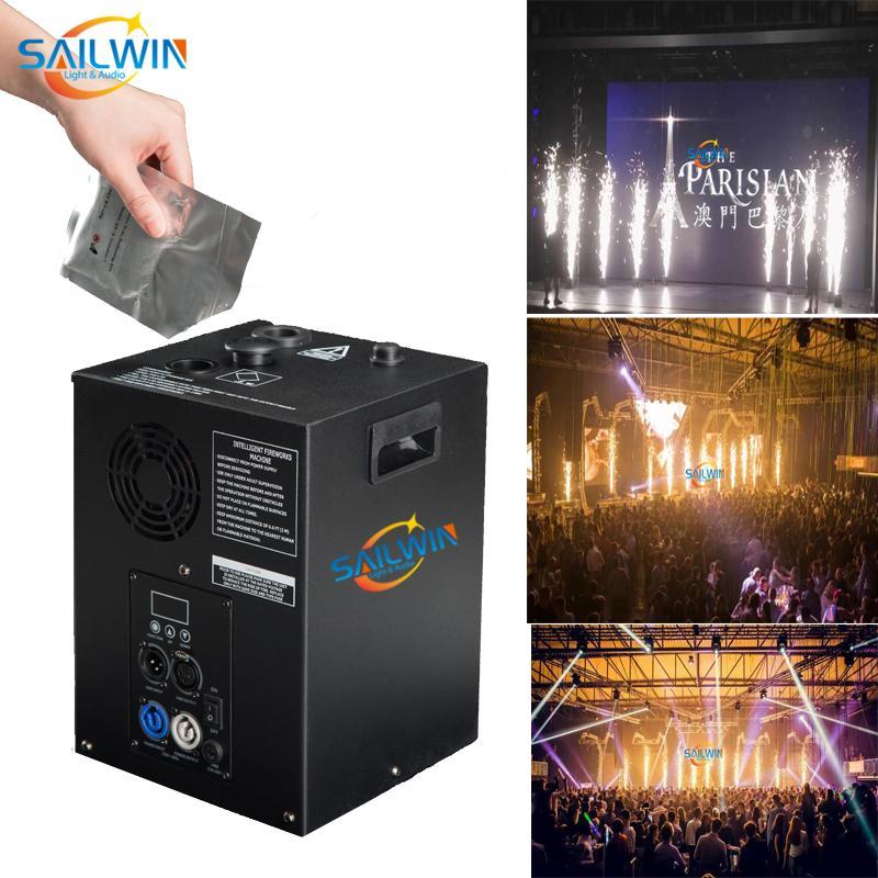 رخيصة 400 واط ضوء المرحلة sailwin dmx شرارة آلة الباردة الألعاب النارية نافورة الشلال spailular ل حفلات الزفاف تي مسحوق msds