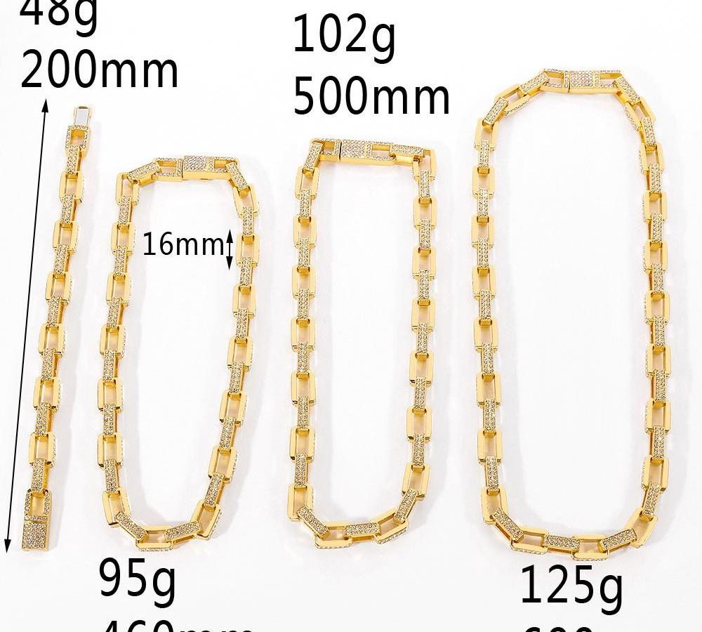 The Big Chains Crystal Hip-hop Necklace Hot Fashion Jewelry For Man or Women Rock Streetwear Cool Heavy Luxury00