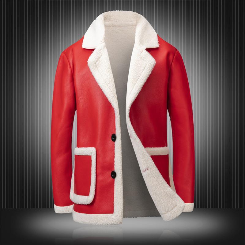 Big Famouse Дизайнер Англия Размер 4XL RED Black Winter пальто Top Brand Men Jacket руно Zipper Мужской Кожезаменитель