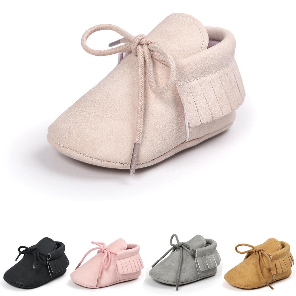 6 ألوان الربيع أحذية أطفال PU جلد الوليد بوي فتاة أحذية عدم الانزلاق للمبتدئين ووكر الطفل 0-12 شهور