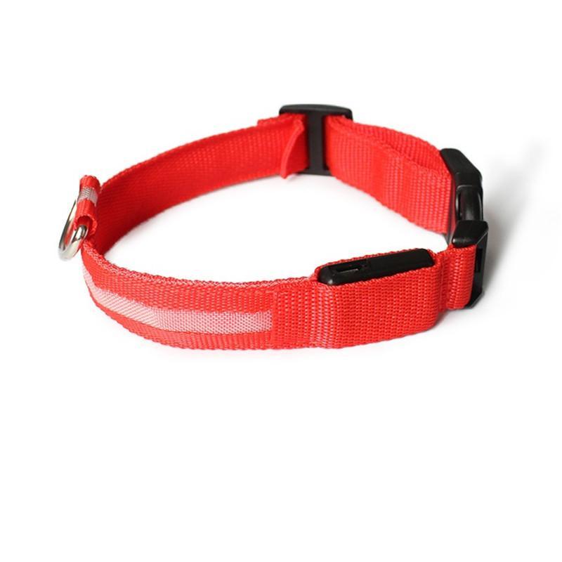 LED colarinho de estimação USB recarregável levou cão colar noite de segurança piscando filhote de cachorro nylon colar com cabo USB carregando EWC2361
