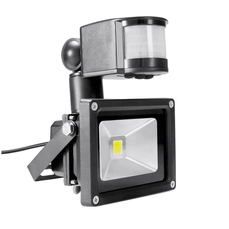 الكاشف PIR 10W LED Ivanowa 12V 24V المدخلات الضوء للماء أمن النظام الشمسي المرآب استشعار الحركة الوقت قابل للتعديل