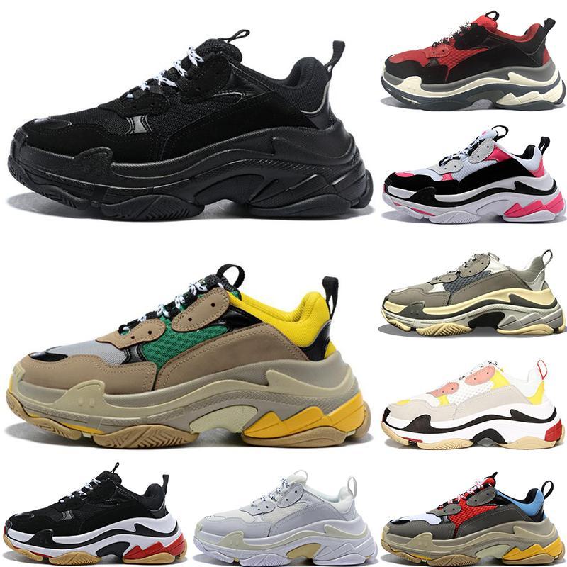 Diseñador barato París 17FW Triples Triples 2020 Zapatos Moda Tenis zapatillas de deporte de lujo del papá para las mujeres ocasionales Triple-S Zapatos de los hombres de Formadores