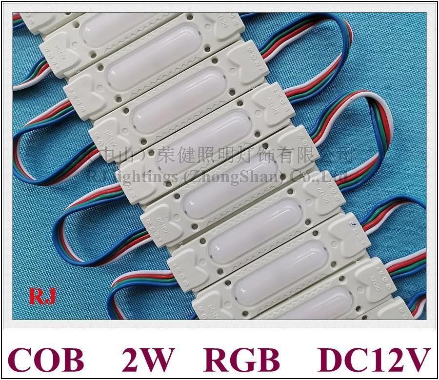 Cgjxs Injection Rgb Módulo Led Cob Waterproof Led módulo de luz para o sinal Carta Rgb DC12v 2w IP65 78 milímetros * 21 milímetros * 7 milímetros