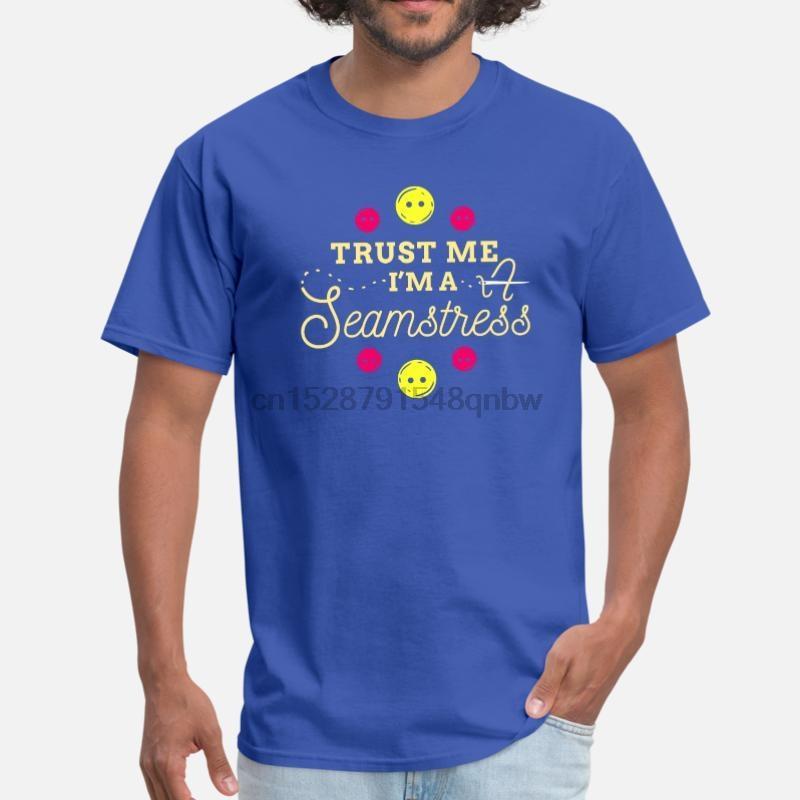 Nouvelle machine à coudre à coudre Aiguille Fil Fil Couturière Hommes T-shirt 2020 O-Neck fou des hommes T-shirt à manches courtes Femme