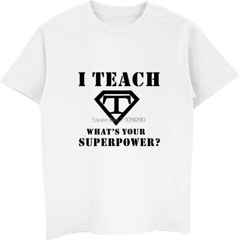 Professor T-shirt novo legal Verão I Teach Camiseta O pescoço de algodão de manga curta T-shirt dos homens cobre T Harajuku Streetwear
