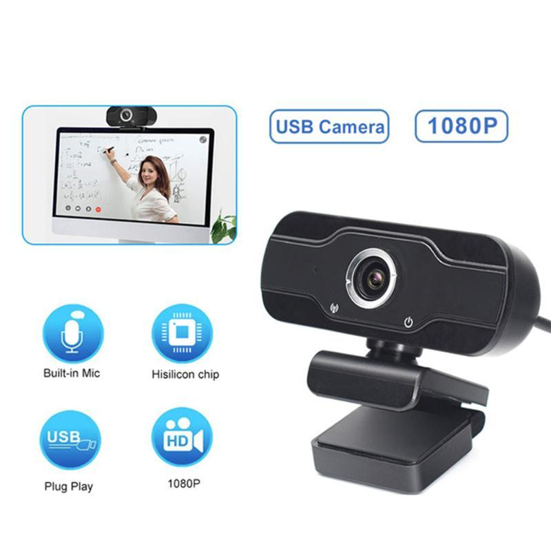 Новая веб-камера 1080P Full HD веб-камера Mini USB камера с микрофоном Web Автофокус Компьютер WebCamera для Видеозвонок Live Stream