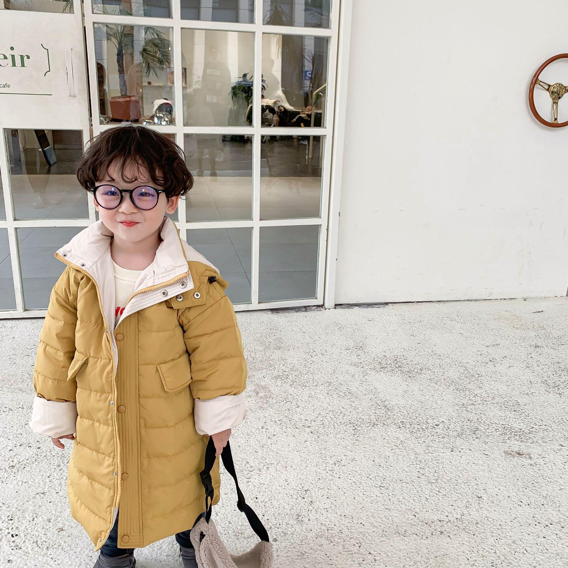 2019 Çocuk ler Pantolon 'Çocuk s Giyim Kış Yeni Kore Sürüm' Rüzgar Dayanıklı aşağı Ceket Coat Y200831 Isınma