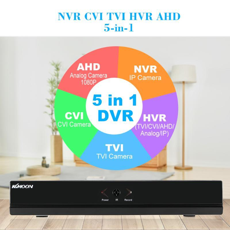 KKmoon 8CH 1080P Hybrid NVR AHD TVI CVI DVR 5-in-1 Digital Video Recorder P2P Onvif PTZ for CCTV Security Camera Surveillance