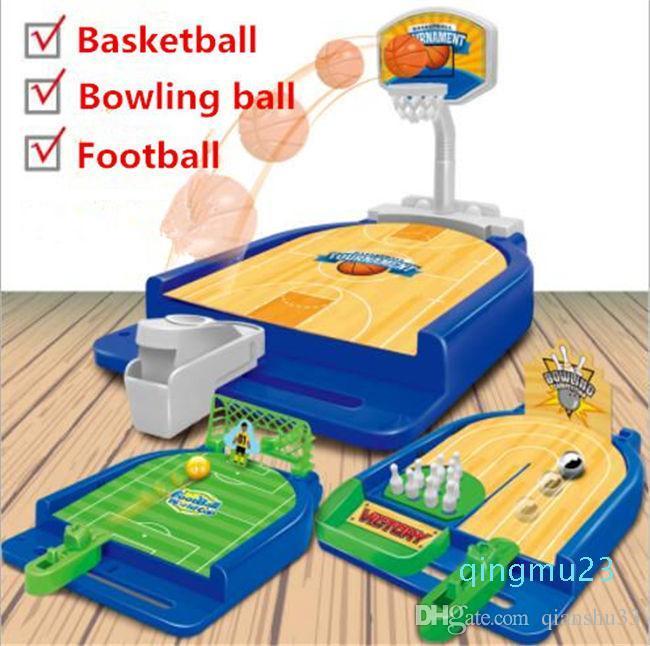 Оптово-Прогулочный Выброс баскетбольная площадка футбол боулинг мини настольный многопользовательской игры Родитель-ребенок игры интерактивные таблицы игрушки