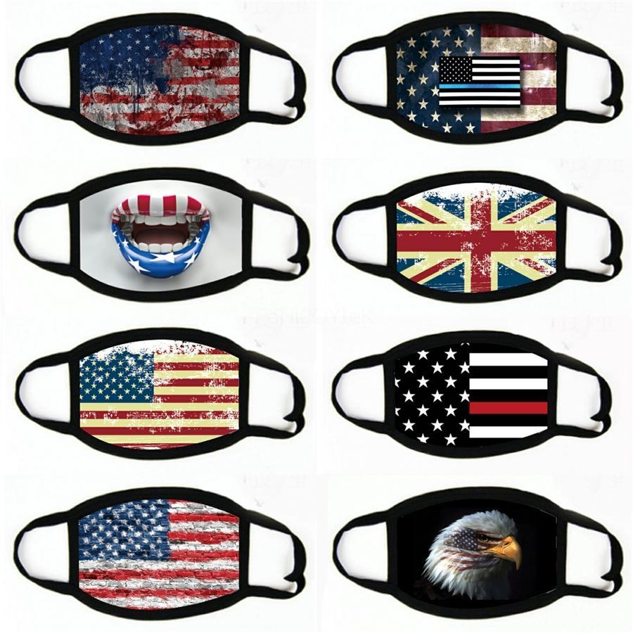 Lavable cara MaskGaiter ciclo al aire libre mágico de fibra de poliéster pañuelo de la cabeza de la decoración de la bandera nacional # 685