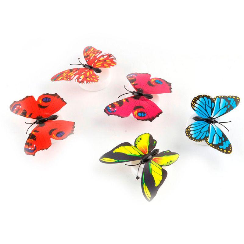 2020 다채로운 나비 LED 밤 빛 홈 파티 침실 웨딩 장식 조명 램프 벽 스티커 어린이 선물 랜덤 무료 배송
