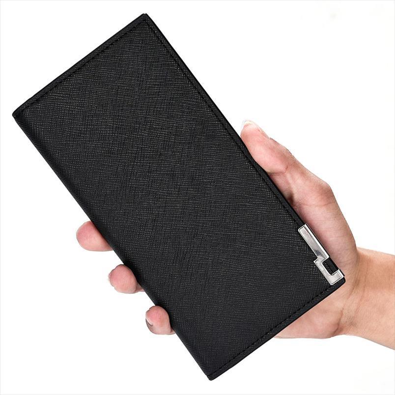 Portefeuille portefeuille porte portefeuille porte-portefeuille de portefeuille porte-monnaie en cuir de monnaie 2020 hommes PU Mâle Main Business Backe Hommes XXXIF