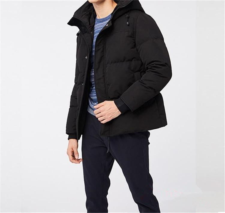 2020 Новый стиль Joker горячего вниз пальто Canadian Повседневного Красивого Мода Бизнес гусь вниз Теплая Зимняя куртка для человека