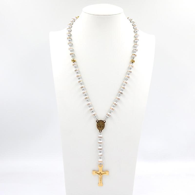 Prayer Beads policroma di cristallo promozioni all'ingrosso monili Cattolica Religiosa Maria della collana del rosario Christian Virgin Donne