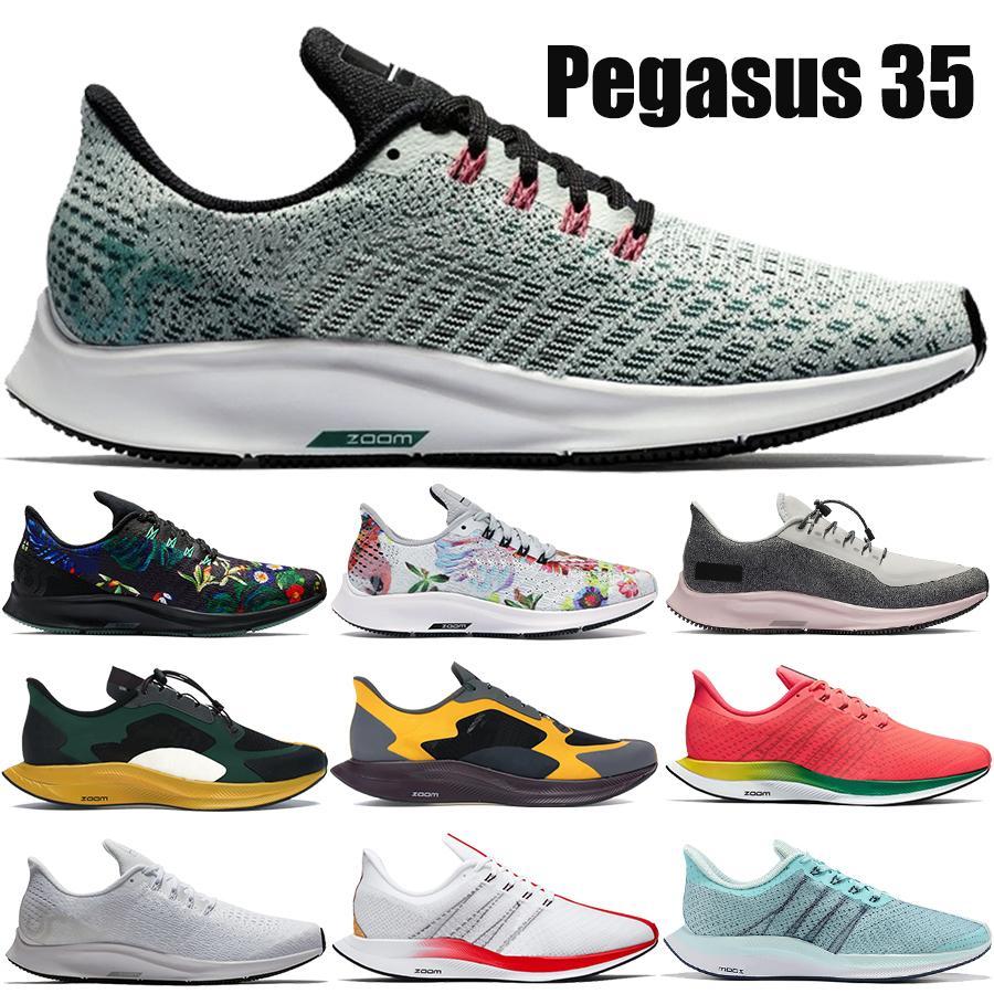 Zoom Mens Running Shoes Pegasus 35 Turbo Foam Gold Dart Seja Verdadeiro Floral Triplo Preto Branco Homens Mulheres Sneakers US 5.5-11