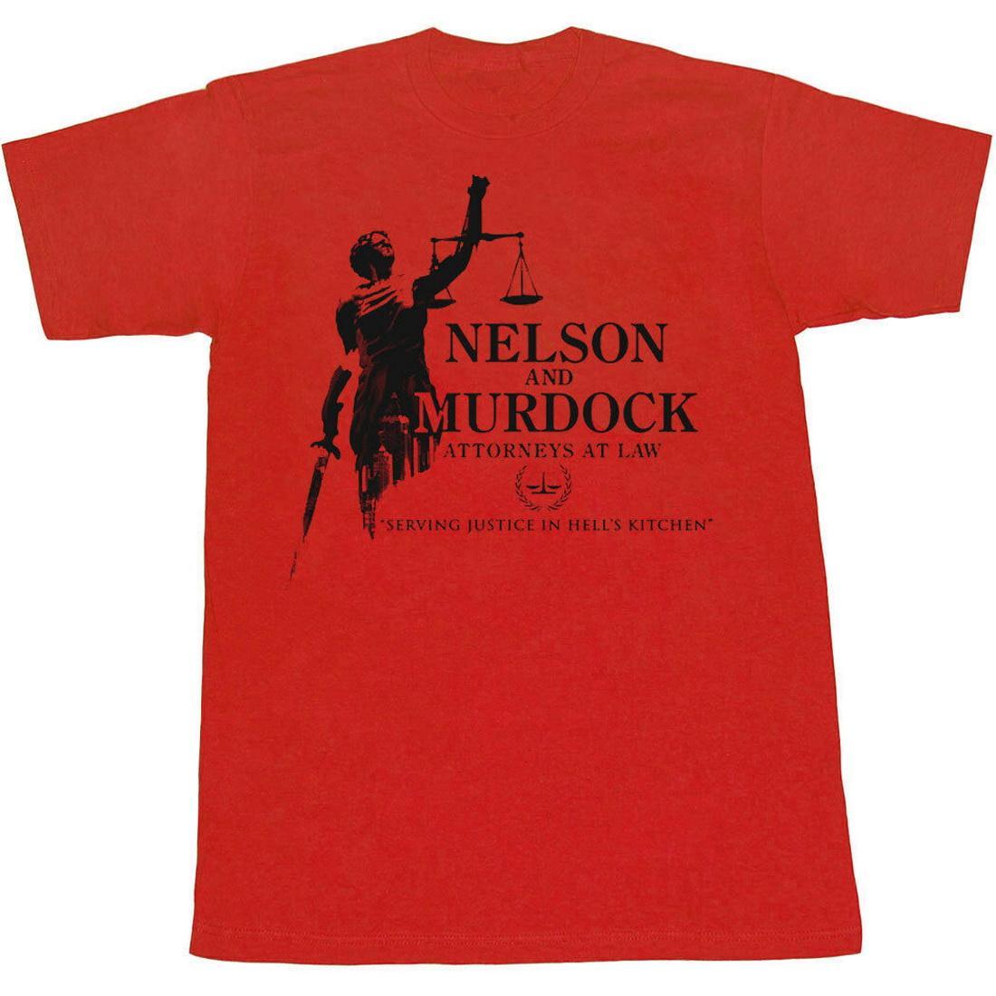 Daredevil Nelson e Murdock Avvocati parti superiori del T maglietta di alta qualità delle parti superiori T-shirt