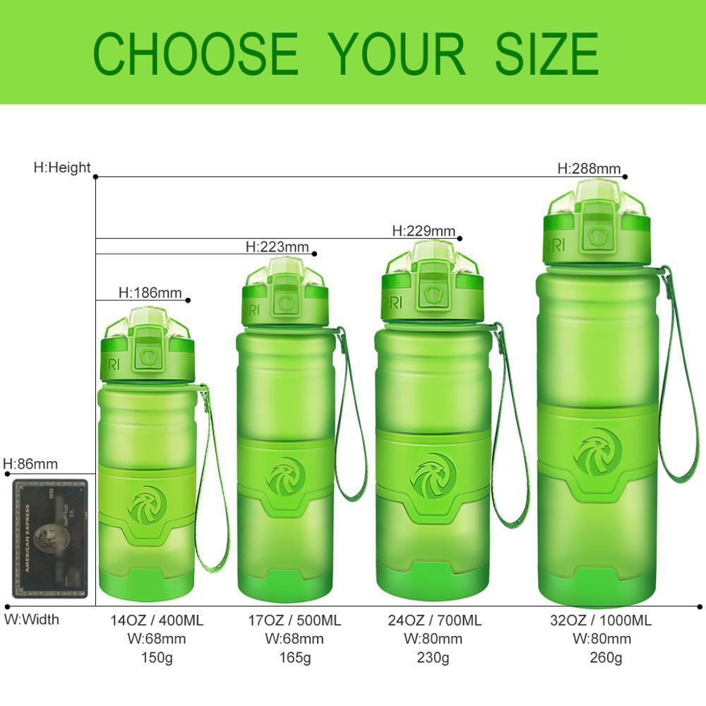 Zorri Flasche Wasser Protein Shaker Tragbarer Motion Sports Wasserflasche BPA frei Umweltfreundlich Sport Camping Wandern Gourde