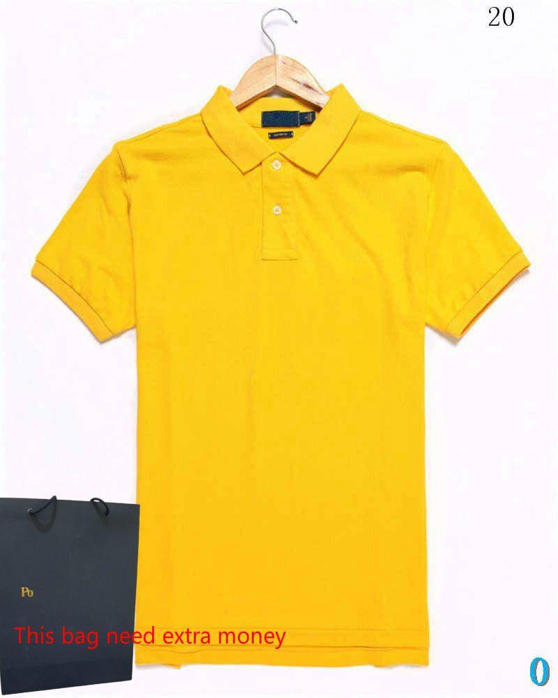 20ss Moda Hombres Poloshirt con el caballo Moda tes de las tapas transpirable Loose Pantalón corto mangas cocodrilo bordado Polos