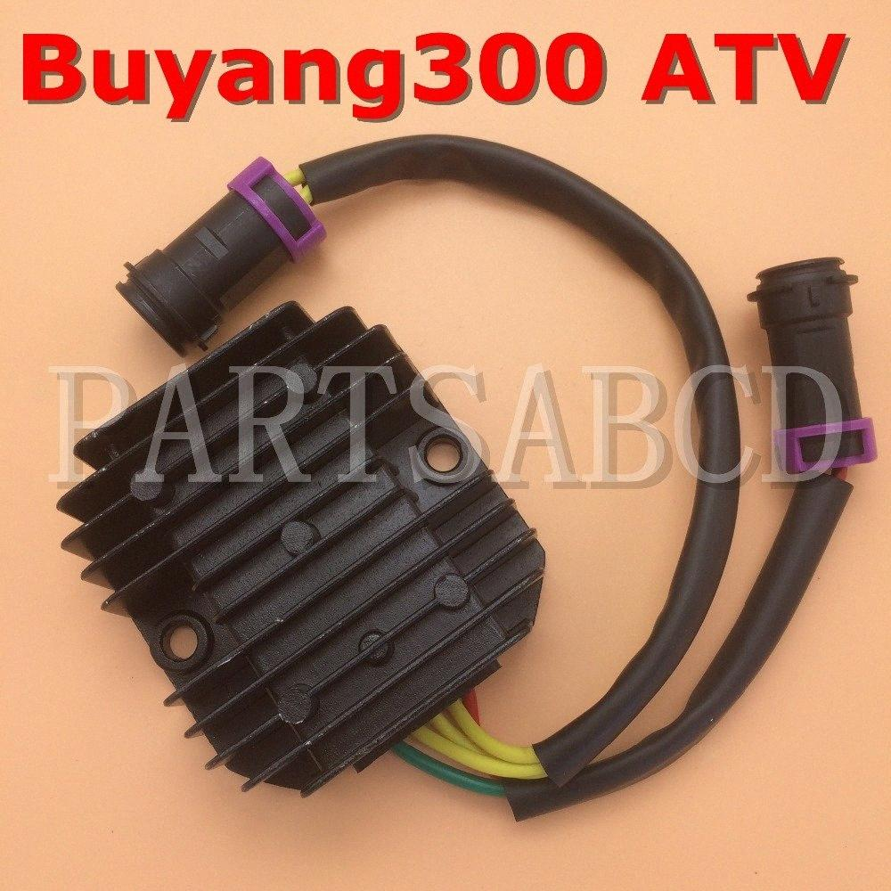 PARTSABCD Buyang 300cc Atv Quad D300 REGLER RECTIFIER Buyang Atv Parts 5.3.01.0081 RIGm #
