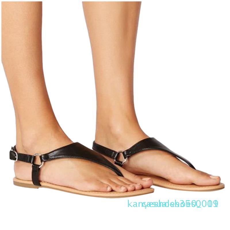 Roman Belt-fivela antiderrapante Plano Mulher Sandals Shoes New Arrival Plano Verão Mulheres Calçado Zapatos De Mujer Mulher Sandal c09 k11