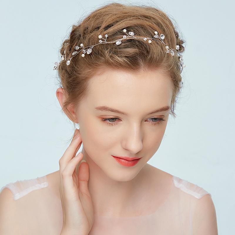 2020 Occidentale Wedding Fashion Cerchietti per la sposa Handmade di cerimonia nuziale della parte superiore dei capelli Accessori Tornante Ornamenti In magazzino