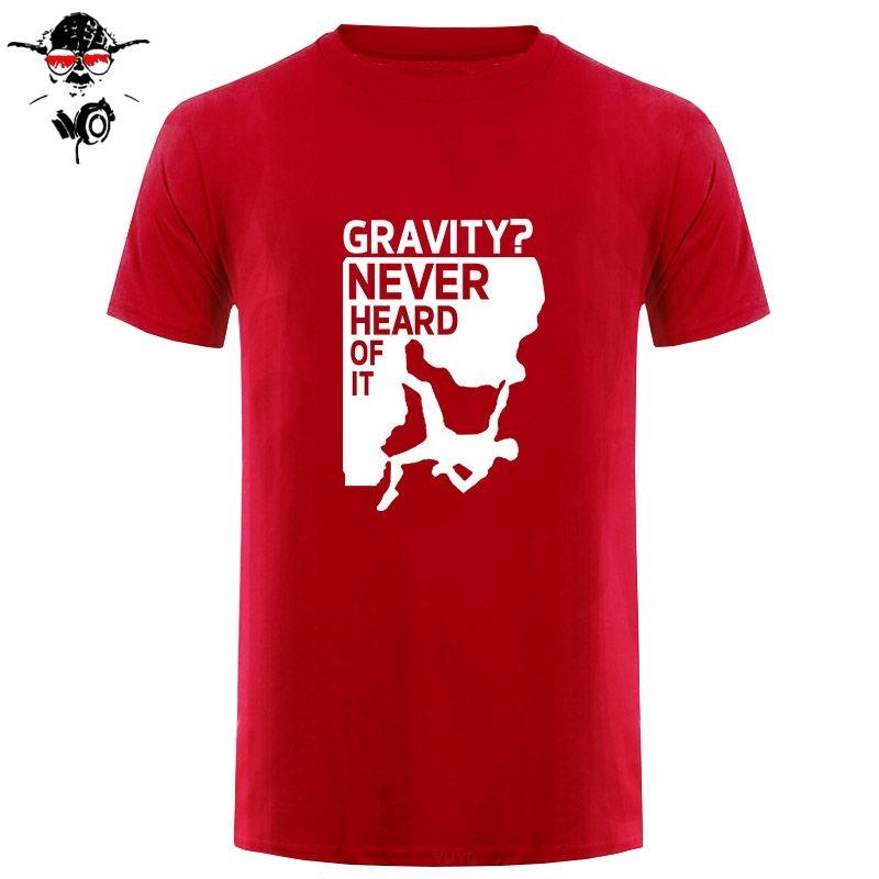 Estilo Nueva divertido habilidades de escalada Loading La evolución divertida Logo Súper tes de las tapas de los hombres la ropa más el tamaño de la buena calidad camiseta