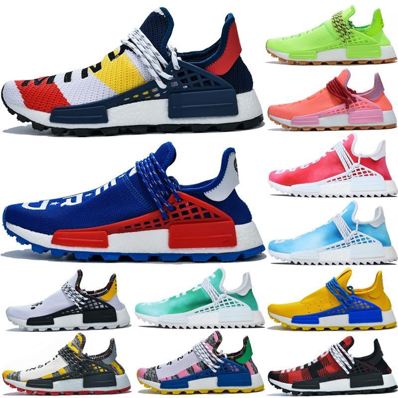 2019 Pharrell Williams NMD razza umana Sneakers BBC solare pacchetto Giallo Blu Nerd mente cuore delle donne degli uomini di sport NMD Running Shoes Dimensione 36-47