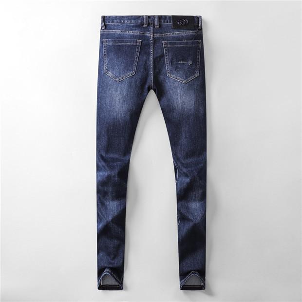 Sonbahar Yeni Tasarımcı Tasarım Erkek Kot dar paçalı Denim Pantolon dar paçalı Kalem Pantolon Gündelik Hip Hop Sıcak Pantolon SIZE W28-W38 Satıldı