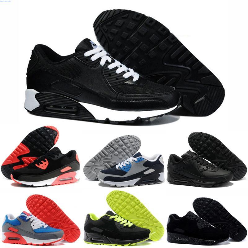 Nike Air Max 90 VIOTECH SER VERDADE 2020 Homens Mulheres Sneaker clássico 90 correndo QS Shoes Infrared Sul praia Sports instrutor Almofada superfície respirável sapatos siz