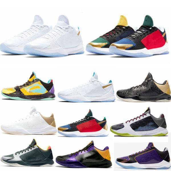 2020 Nuova release Undefeated x 5 5s Protro scarpe da basket grande palcoscenico caos ciò che se gli uomini delle scarpe da tennis allenatori sportivi dimensioni DB5551-900 36-45