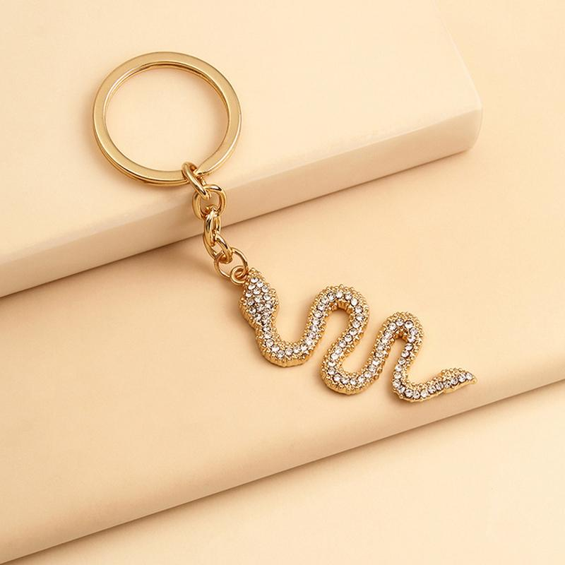Chegada Nova Cristal Serpente Chaveiro Mulheres animal menina Cobra Key presente Anel de Acessórios de Moda Amigo Amor