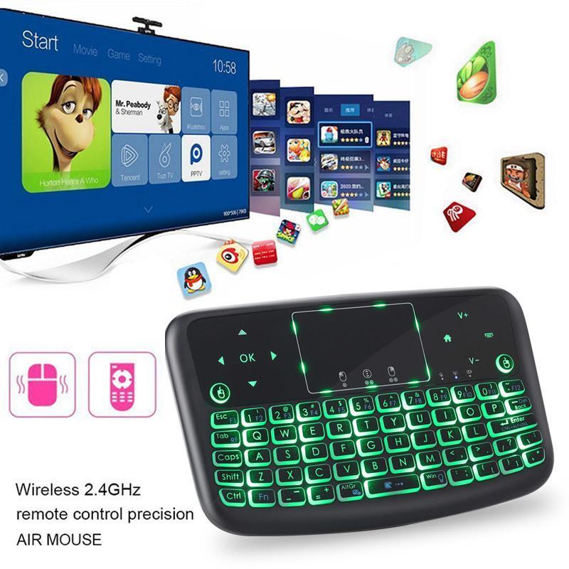 4 Colore Mini tastiera wireless tastiera Bluetooth Bluetooth Portable Mouse con tablet Telecomando Touchpad 2.4 GHz per Android TV Box LJ200922
