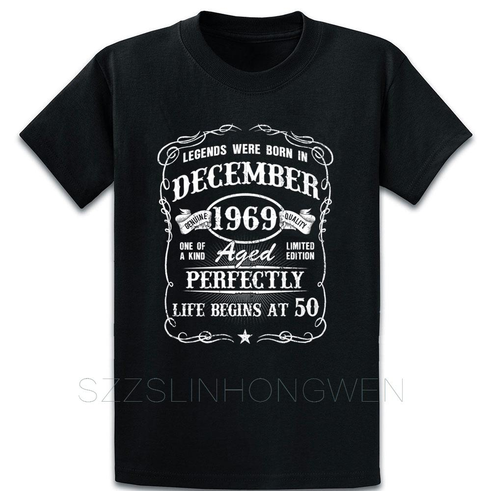 Born In December 1969 50th Birthday Gift Ideas T Shirt Designs Loose Vintage Male Summer O Neck Tee Shirt Building Shirt