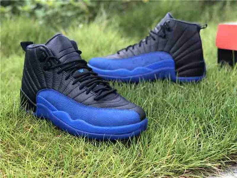 2020 Новый 12 Камень черный синий Темный Concord Обратный Flu Game OVO Баскетбол обувь 12s Плей Французский черный синий обувь размер 36-46