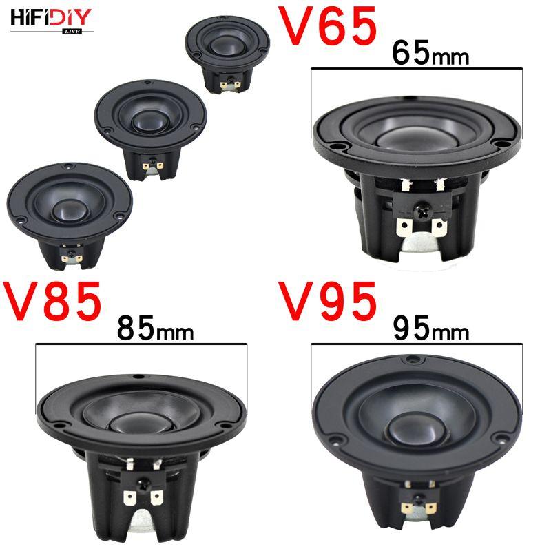 Bilgisayar Hoparlörleri HIFIDIY Alüminyum Havzası Hi-Fi 2 3 3.5 inç 65mm Tam Frekans Hoparlör Ünitesi 4OHM 20 W Yüksek Alto Bas Hoparlör V65 / 85 / 95mm