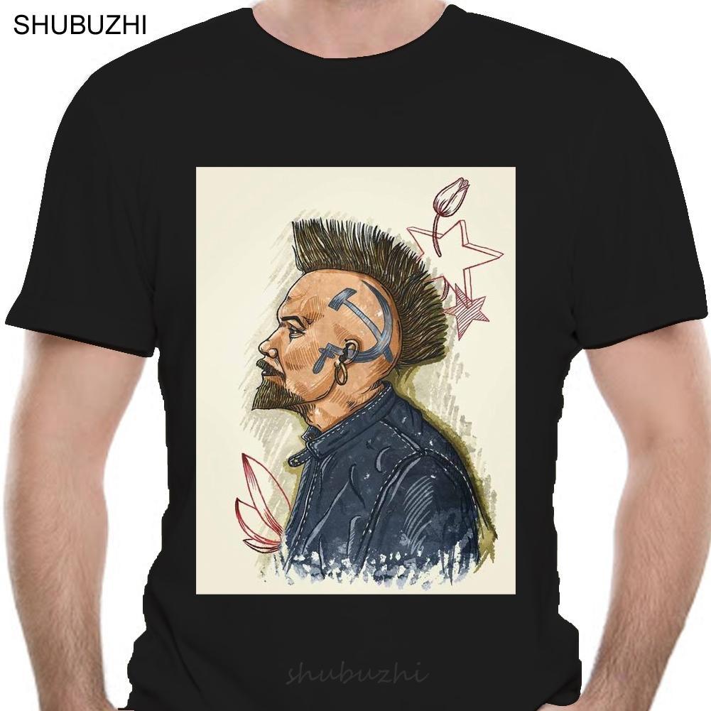 Lenin El punk Nueva camiseta Lenin El punk URSS Unión Soviética algodón camiseta de los hombres de moda de verano la camiseta Tamaño euro