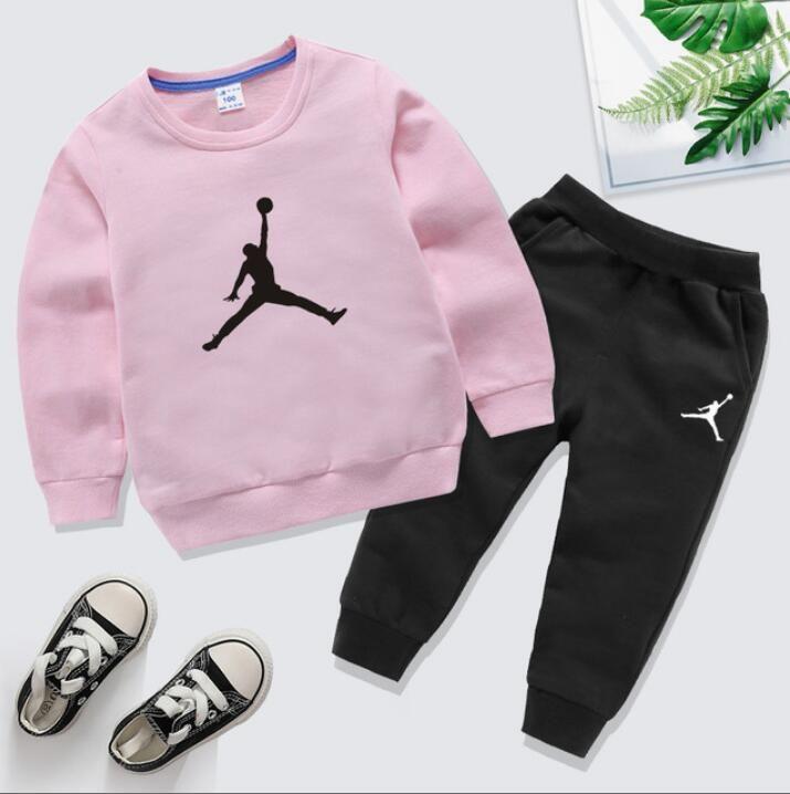 2020 Designer Brands Baby Spring Autumn Clothes Sets Kids Boy Girl Top Pants 2 Pcs Suits Tracksuit Outfits 1-8 years Costume pour enfants