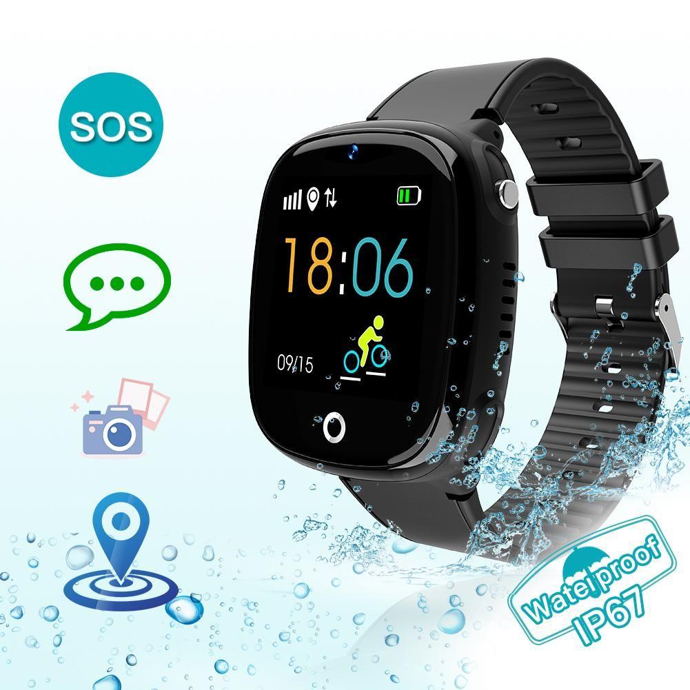 Smart HW11 GPS Tracker Crianças Relógio Crianças Relógios Telefone Posicionamento IP67 impermeável Watch para menino e menina SOS Chamada