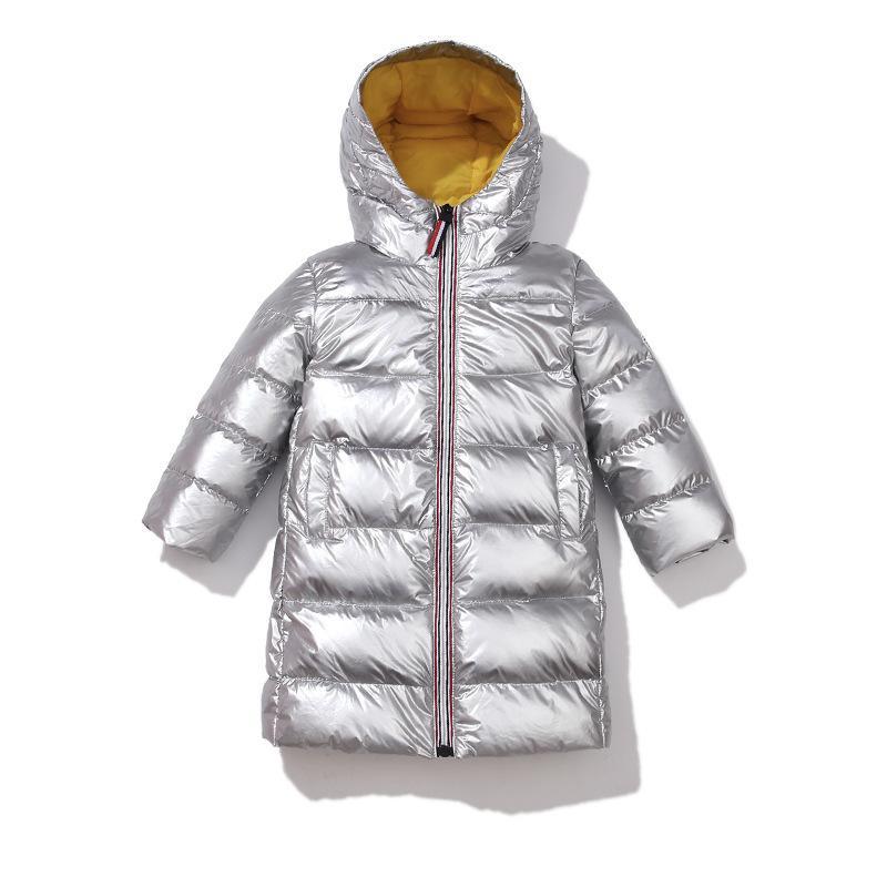 2020 Jacket New Children Inverno para Brasão meninas miúdos Prata Meninos com capuz Bebê Roupa Exteriores Parka Meninas de Down Coats