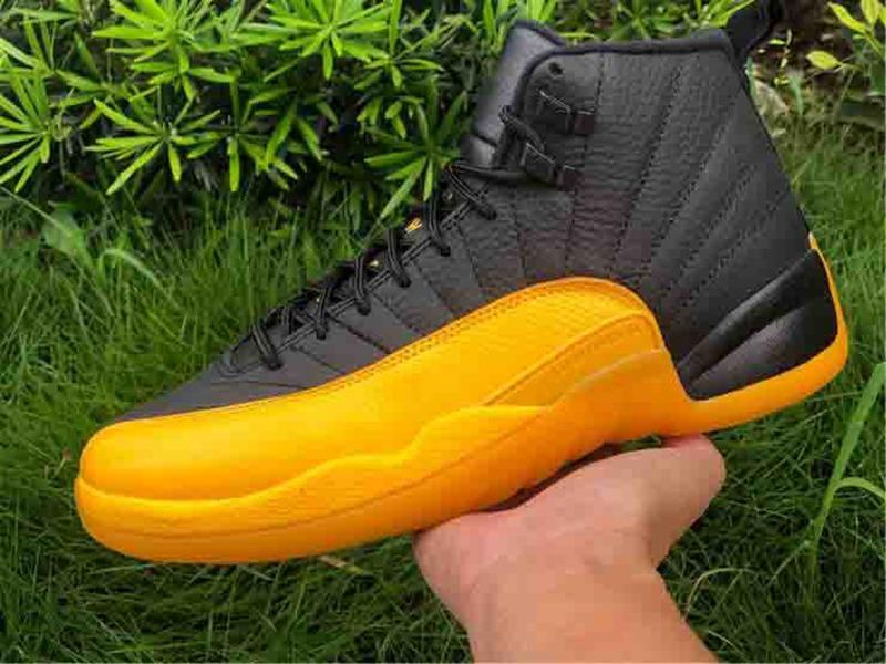 2020 Новый 12 Stone University Gold Dark Concord Reverse Flu Game OVO Баскетбол обувь 12s Плей Французский университет Золотые туфли