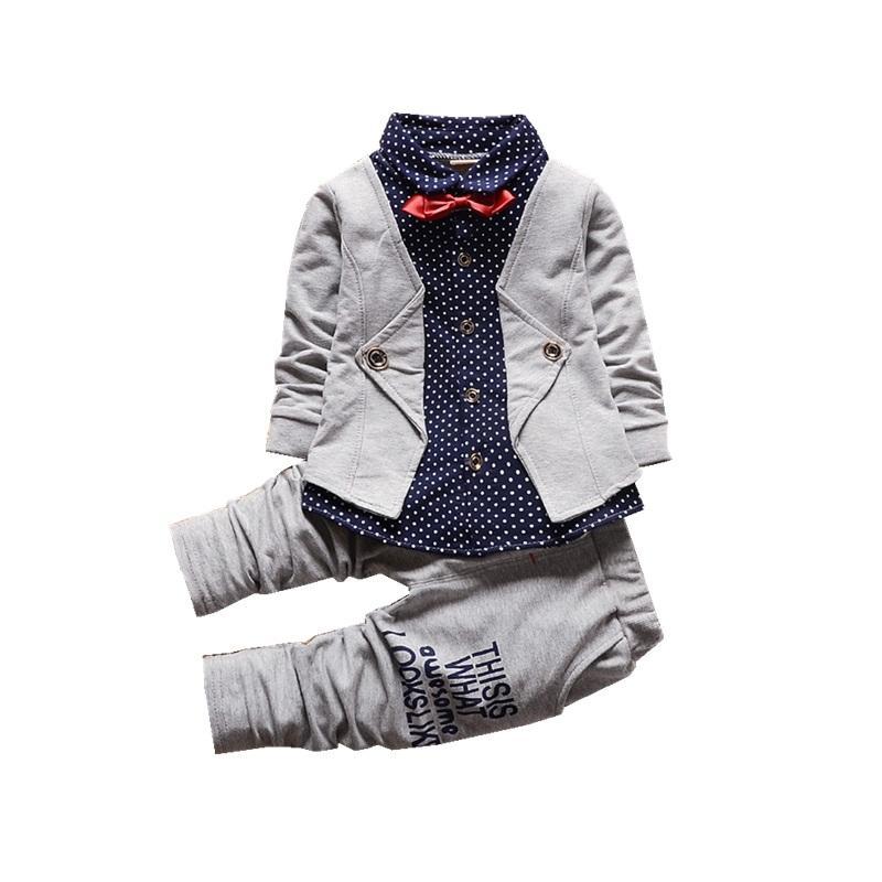 الاطفال أزياء العلامة التجارية ملابس الطفل القطن الكامل كم تي شيرت وسروال طفل رياضية الخريف الأطفال صبي فتاة طقم ملابس