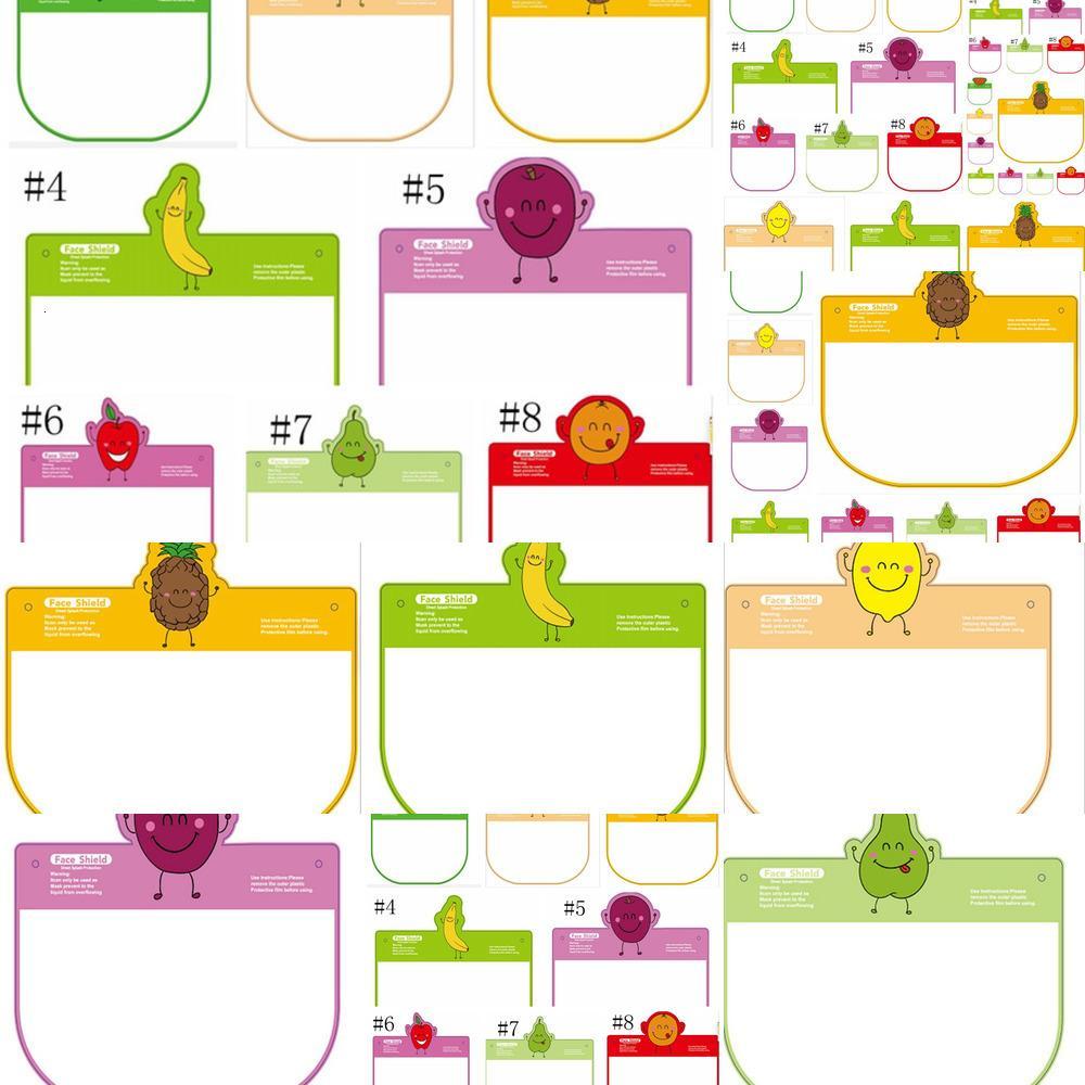 Schutz Nettes Transparent Kind Masken Cartoon mit Frucht-Muster Anti-Fog-Vollmaske Staubdichtes Haustier-Partei Maske Yya443