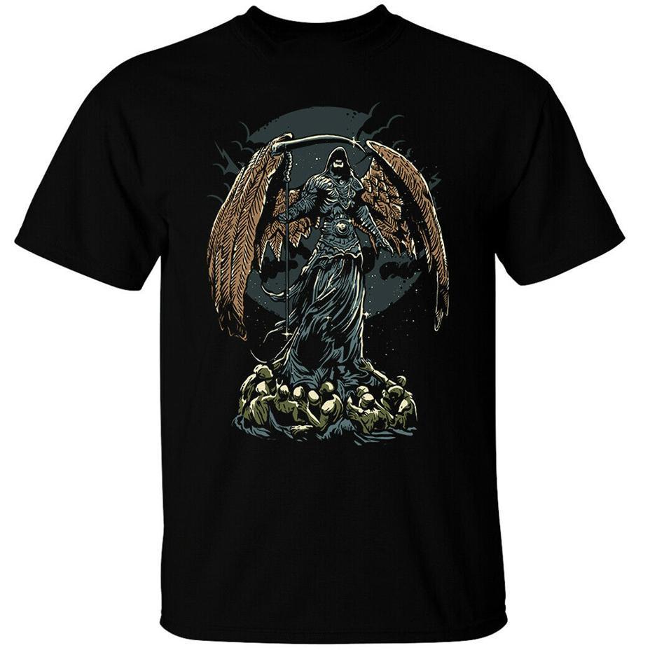 Signore Oscuro T-shirt Mens gotico tetra oscurità Reaper Angel of Death Scythe Umorismo Tee Shirt