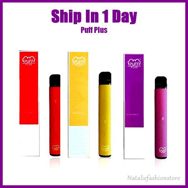 Puff Além disso descartável Vape Pens Oil vaporizador Pod Starter Kit Instock 280mAh 1,3ml Cartucho PackagingBattery 20COLOR Puff Bar E-Cig Pen
