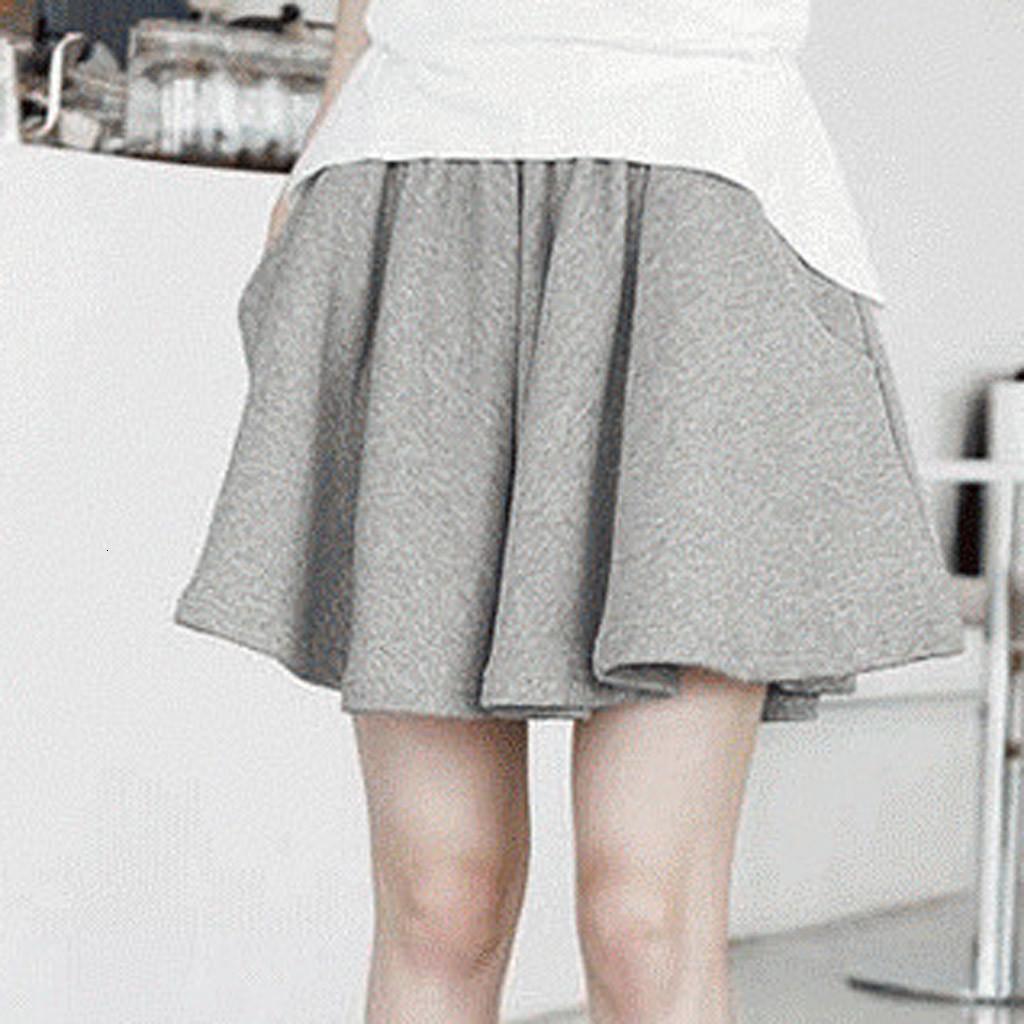 Mode Shorts Femmes Été 2020 en vrac solide Casual Shorts femmes taille haute Style Coréen Basic Short Feminino Taille Plus P3