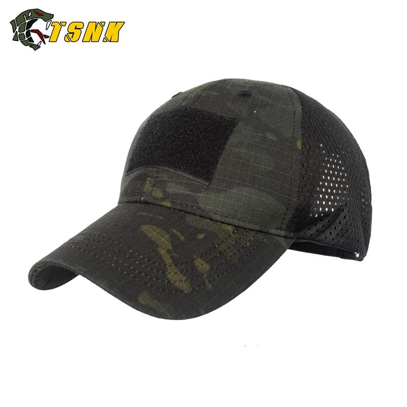 Berretti a sfera Tsnk Snapback Uomini Tactical Grid Griglia traspirante Brand Berretto da baseball Bionic Camouflage Cappello da sole